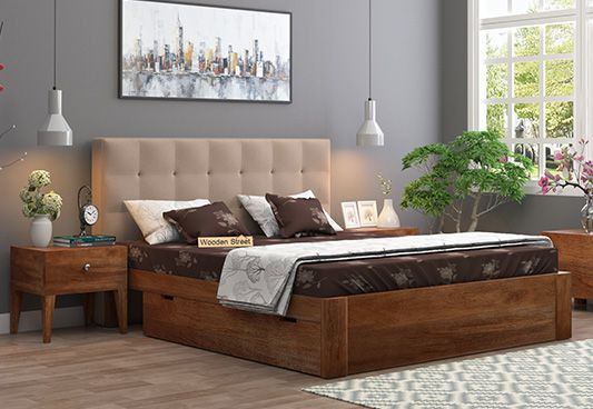 Storage Upholstered Bed at low price