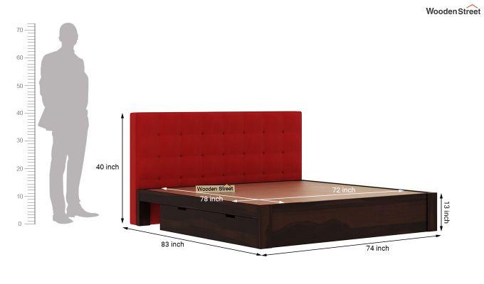 Wagner Upholstered Bed With Side Storage (King Size, Dusky Rose)-8
