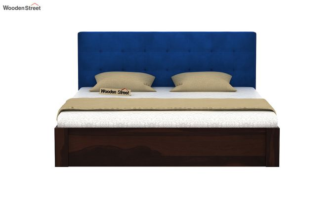 Wagner Upholstered Bed With Side Storage (King Size, Indigo Blue)-3