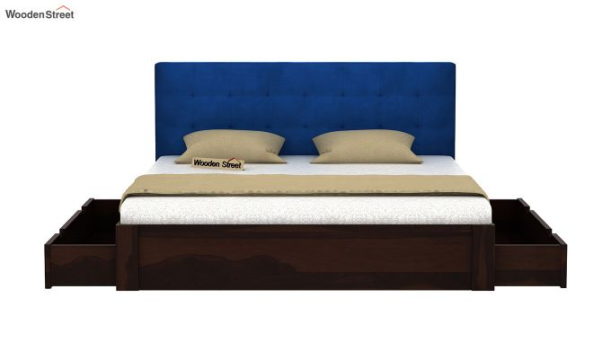 Wagner Upholstered Bed With Side Storage (King Size, Indigo Blue)-5