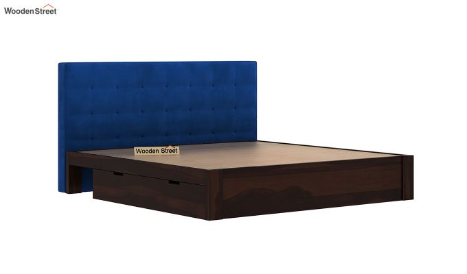 Wagner Upholstered Bed With Side Storage (King Size, Indigo Blue)-6