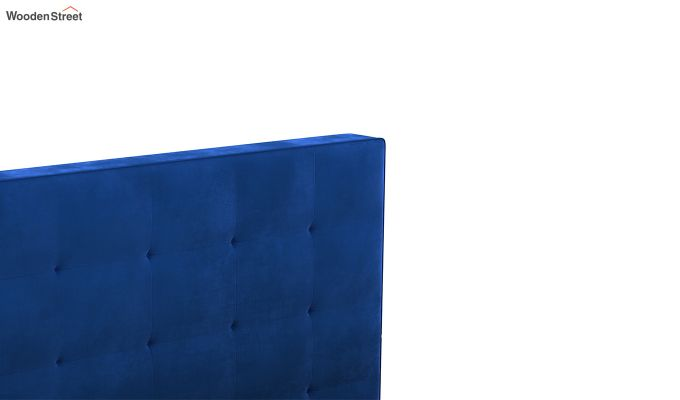 Wagner Upholstered Bed With Side Storage (King Size, Indigo Blue)-7