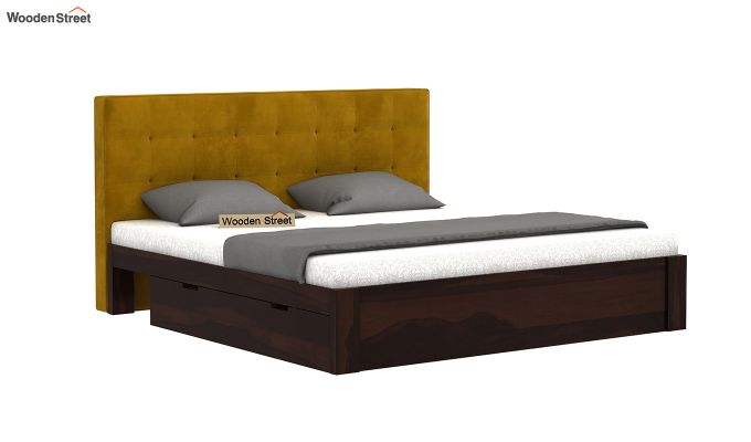 Wagner Upholstered Bed With Side Storage (King Size, Chestnut Brown)-2