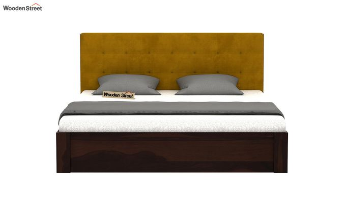 Wagner Upholstered Bed With Side Storage (Queen Size, Chestnut Brown)-3