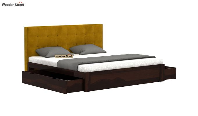 Wagner Upholstered Bed With Side Storage (King Size, Chestnut Brown)-4