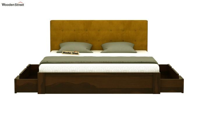Wagner Upholstered Bed With Side Storage (Queen Size, Chestnut Brown)-5