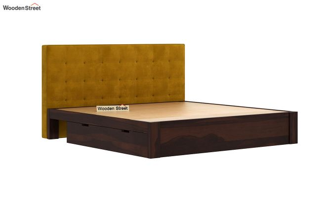 Wagner Upholstered Bed With Side Storage (Queen Size, Chestnut Brown)-6