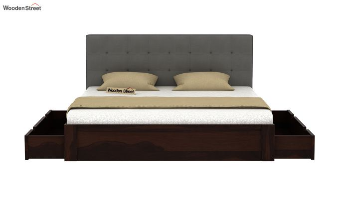 Wagner Upholstered Bed With Side Storage (King Size, Warm Grey)-5