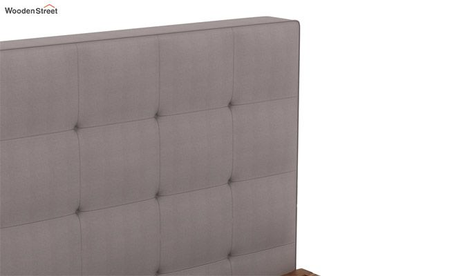 Wagner Upholstered Bed With Side Storage (Queen Size, Warm Grey)-6