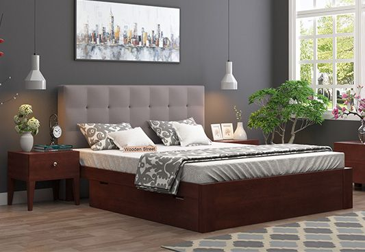 Upholstered Bed With Drawers