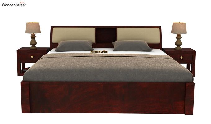 Walken Bed With Storage (Queen Size, Mahogany Finish)-3