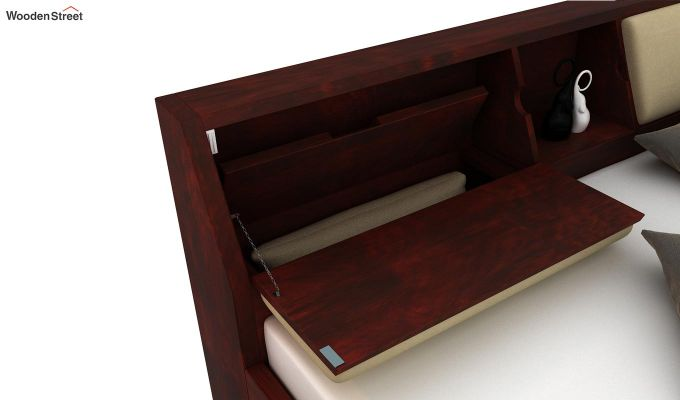 Walken Bed With Storage (Queen Size, Mahogany Finish)-6