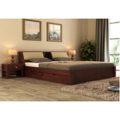 Walken Bed With Storage (Queen Size, Mahogany Finish)