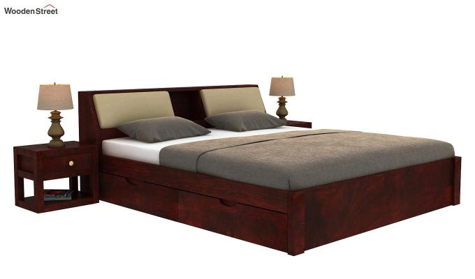 Walken Bed With Storage (King Size, Mahogany Finish)-2
