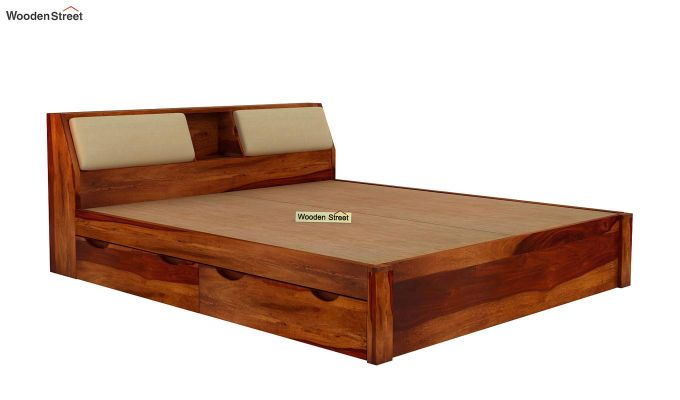 Walken Bed With Storage (Queen Size, Honey Finish)-7