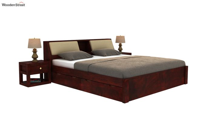 Walken Bed With Storage (Queen Size, Mahogany Finish)-2
