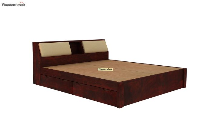 Walken Bed With Storage (King Size, Mahogany Finish)-4