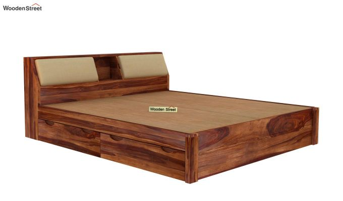 Walken Bed With Storage (King Size, Teak Finish)-7