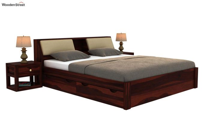 Walken Bed With Storage (King Size, Walnut Finish)-2