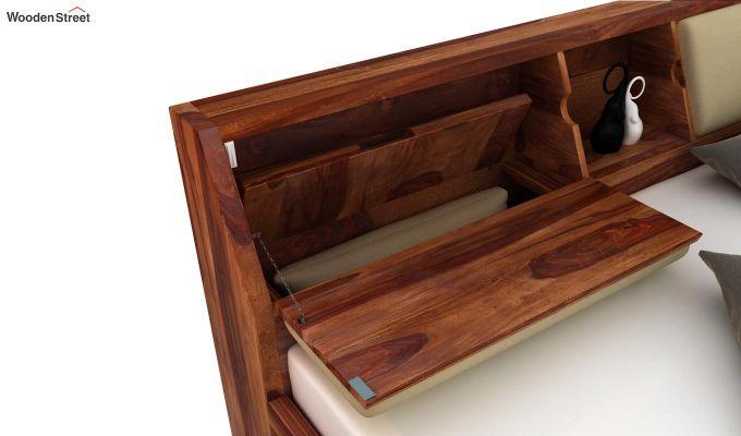 Walken Bed With Storage (King Size, Teak Finish)-6