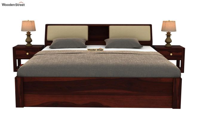 Walken Bed With Storage (Queen Size, Walnut Finish)-3