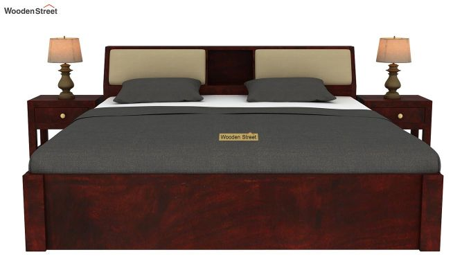 Walken Hydraulic Bed (King Size, Mahogany Finish)-3