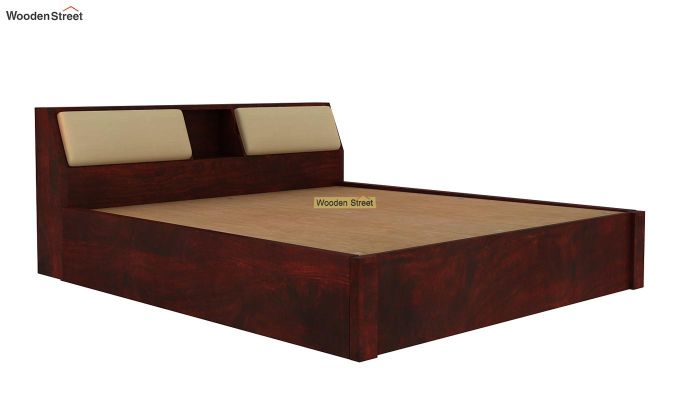 Walken Hydraulic Bed (King Size, Mahogany Finish)-7