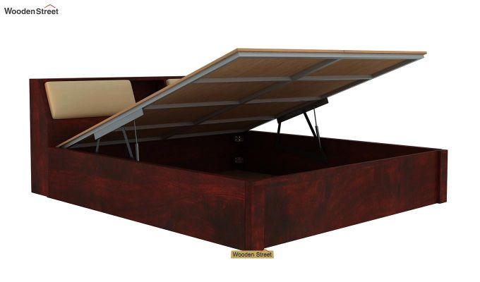 Walken Hydraulic Bed (King Size, Mahogany Finish)-6