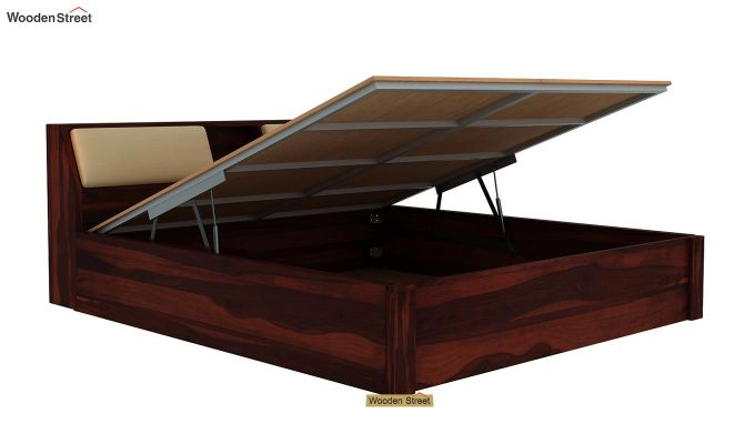 Walken Hydraulic Bed (King Size, Walnut Finish)-6