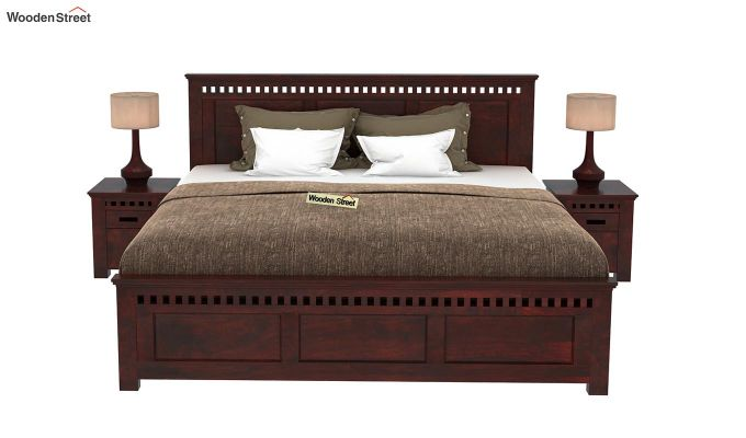 Adolph Bed Without Storage (King Size, Mahogany Finish)-2