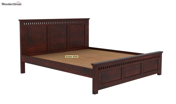 Adolph Bed Without Storage (King Size, Mahogany Finish)-4