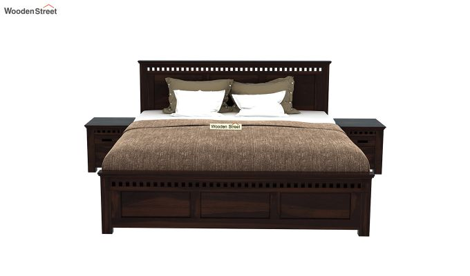 Adolph Bed Without Storage (Queen Size, Walnut Finish)-3