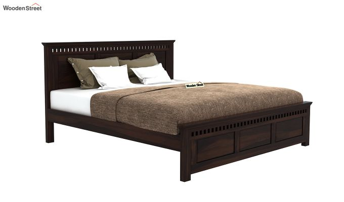 Adolph Bed Without Storage (Queen Size, Walnut Finish)-4