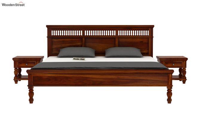 Alanis Bed Without Storage (King Size,Honey Finish)-3
