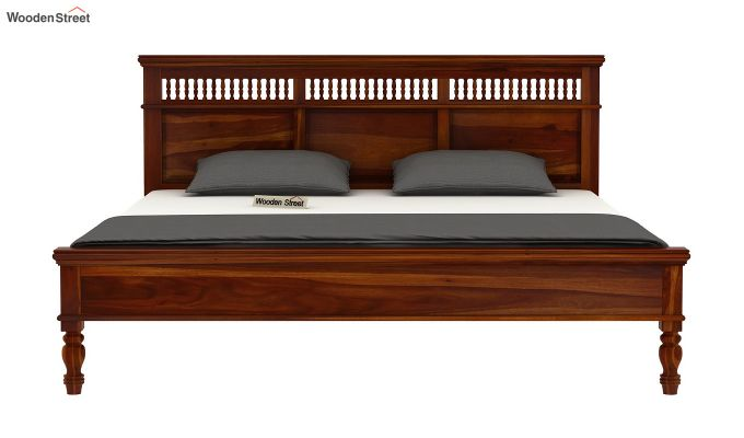 Alanis Bed Without Storage (Queen Size,Honey Finish)-5