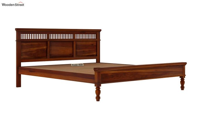 Alanis Bed Without Storage (Queen Size,Honey Finish)-6