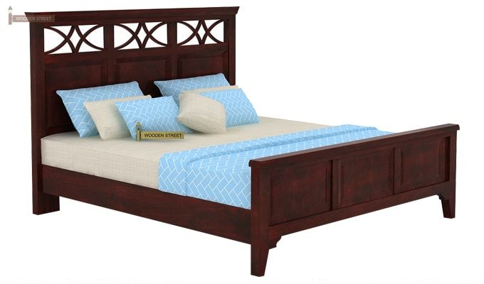 Allan Bed (Queen Size, Mahogany Finish)-3