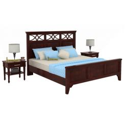 Allan Bed (Queen Size, Mahogany Finish)
