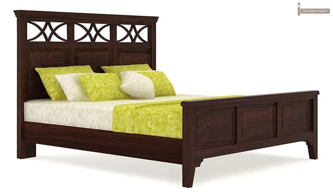 Allan Bed (King Size, Walnut Finish)-5