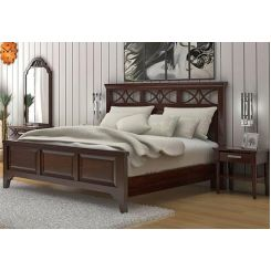 Allan Bed (King Size, Walnut Finish)