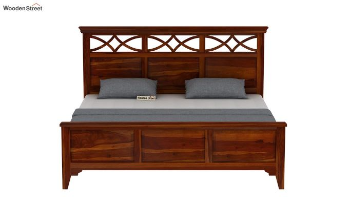 Allan Bed without Storage (Queen Size, Honey Finish)-5