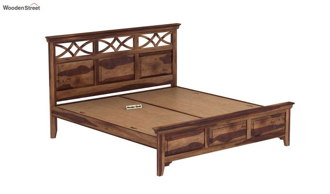 Allan Bed without Storage (Queen Size, Teak Finish)-6