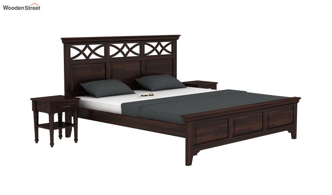 Allan Bed without Storage (Queen Size, Walnut Finish)-2