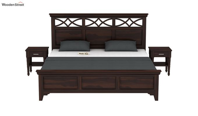 Allan Bed without Storage (King Size, Walnut Finish)-3
