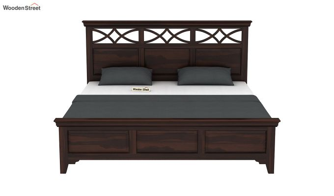 Allan Bed without Storage (Queen Size, Walnut Finish)-5