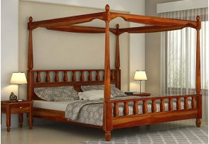 Four Poster Bed Buy Solid Wood Poster Beds Online Upto 55 Off