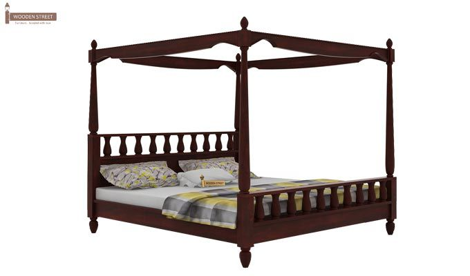 Allure Poster Bed Without Storage (King Size, Mahogany Finish)-3