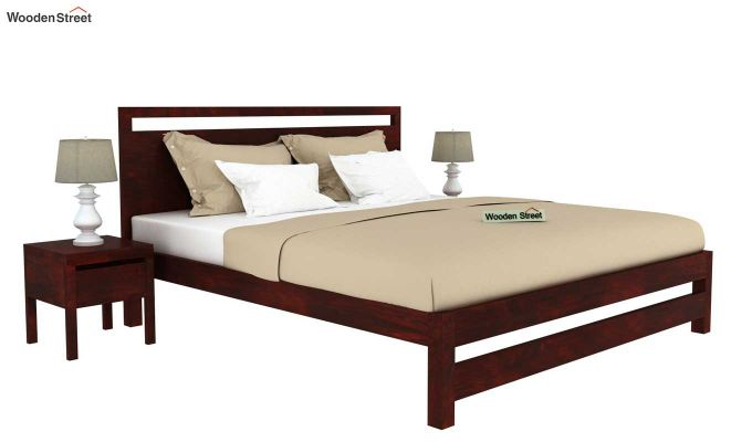 Bacon Bed without Storage (Queen Size, Mahogany Finish)-2