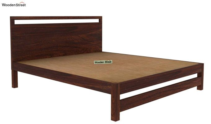 Bacon Bed without Storage (Queen Size, Walnut Finish)-4