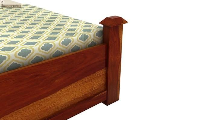Christina Bed Without Storage (King Size, Honey Finish)-5